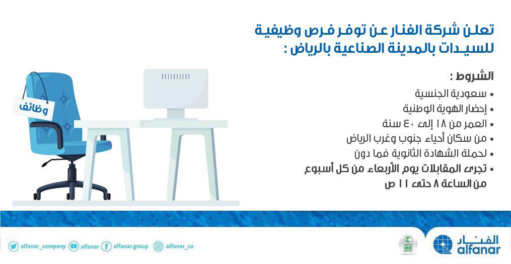 وظائف في مصانع الرياض للنساء 2020