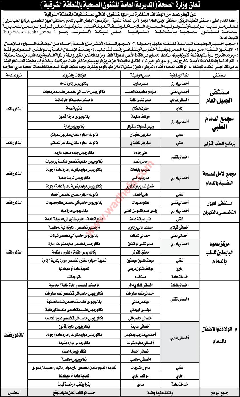 وظائف إدارية صحية مستشفيات المنطقة ALSEHHA2184.png