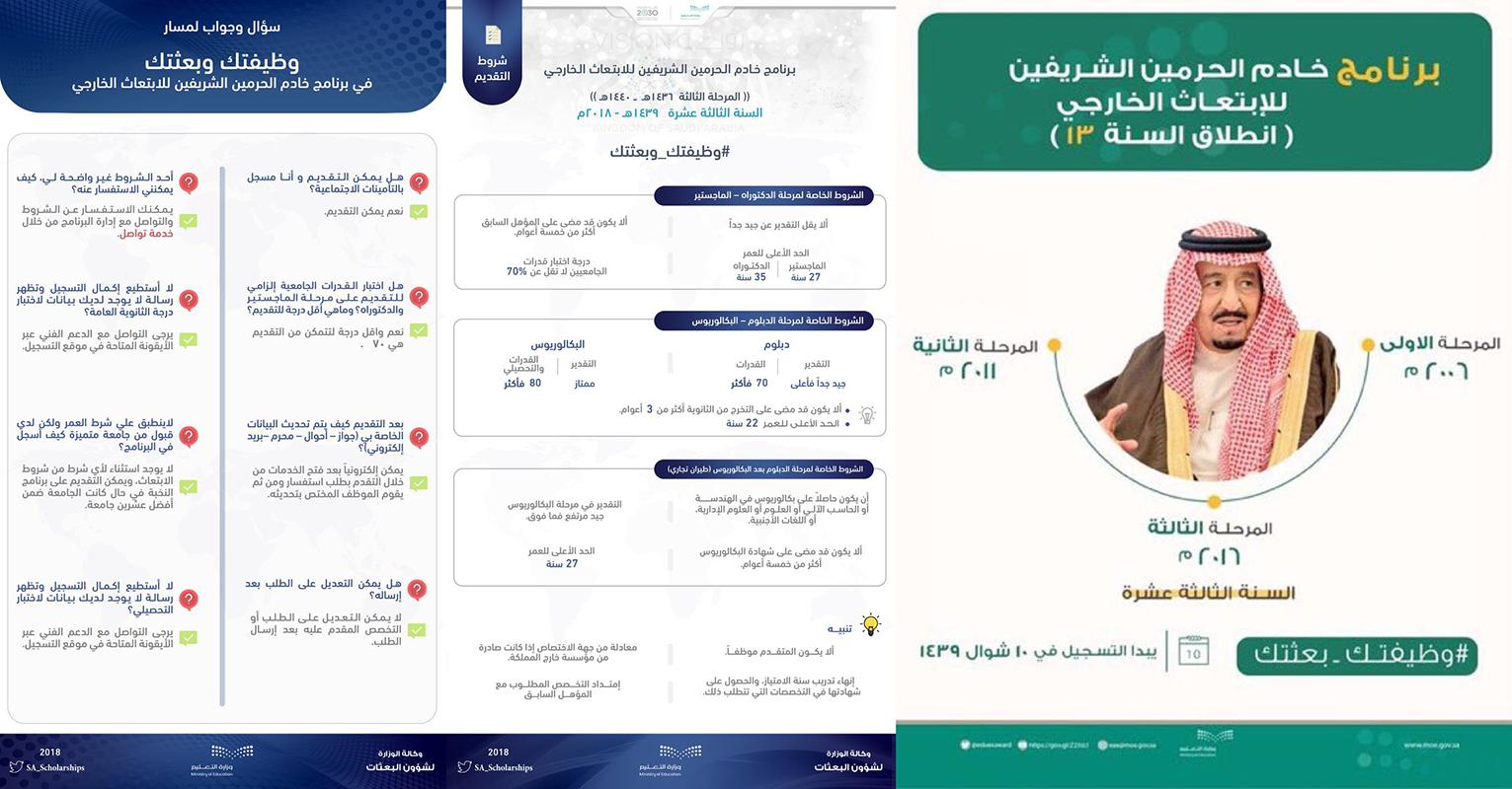 وزارة التعليم تعلن فتح التسجيل في برنامج الابتعاث الخارجي وظيفتك